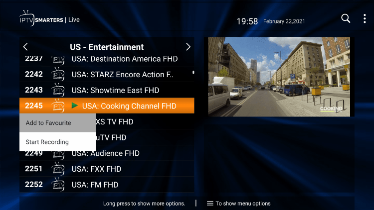 One of the best features within the Beyond Streamz IPTV service is the ability to add channels to Favorites.