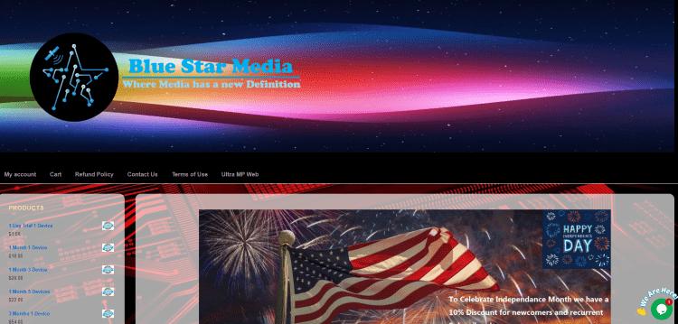 bluestar media iptv website