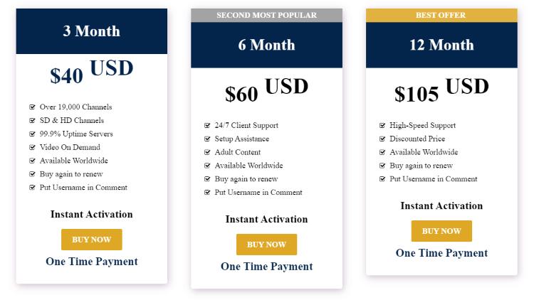 lex iptv pricing