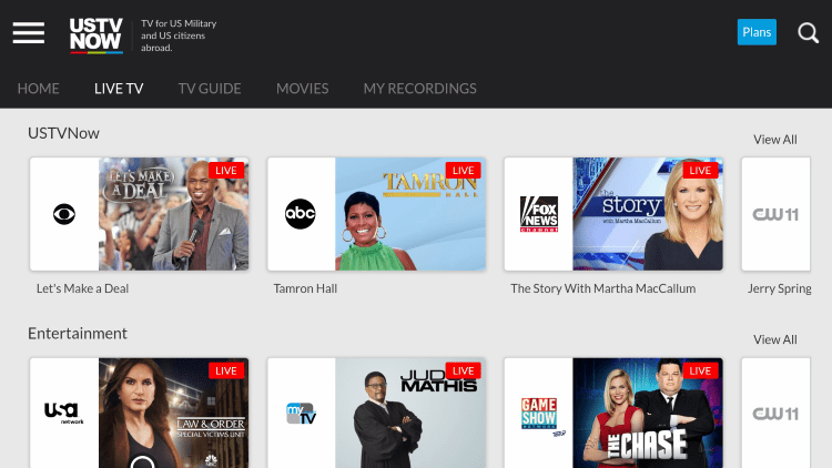 As mentioned previously, USTVNOW provides several live channels that are in various categories.