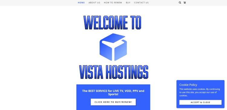 vista hostings iptv website