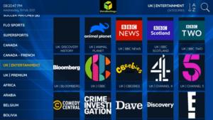 vista hostings iptv channels