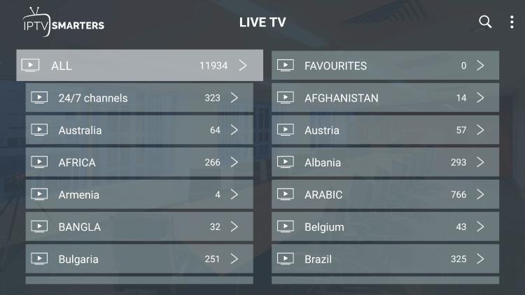 ys flex iptv channels