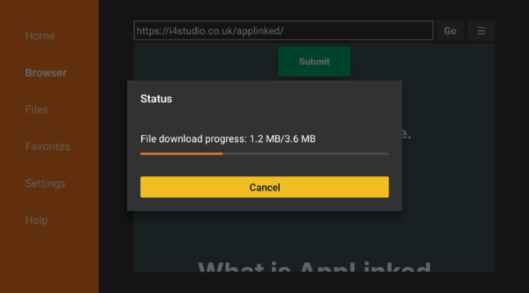 Wait for the file to download.