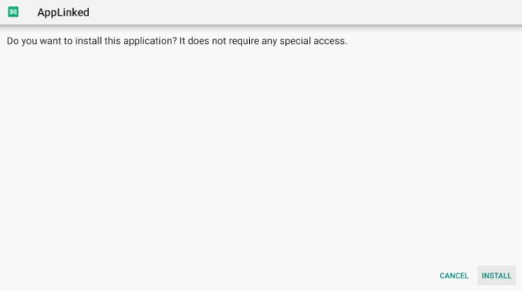 Click Install applinked apk
