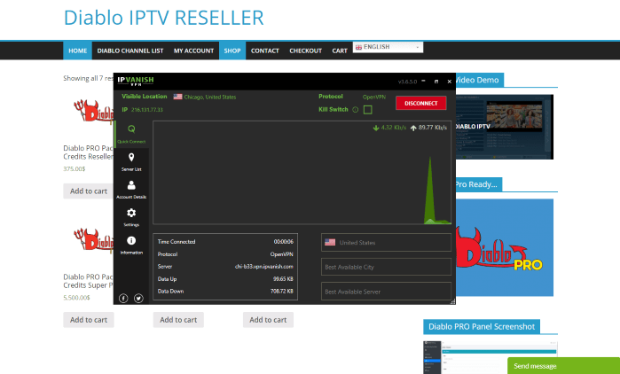However, this does not mean we shouldn't protect ourselves when streaming content from this unverified IPTV service.