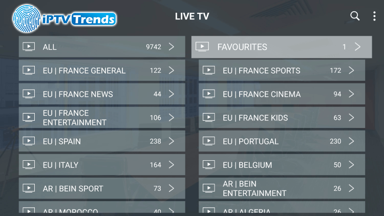 iptv trends channels