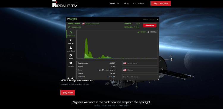 We should always protect ourselves when streaming content from this unverified IPTV service.