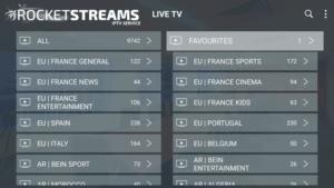 rocket streams iptv channels
