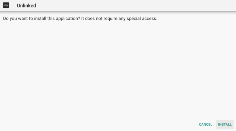 Click Install unlinked apk