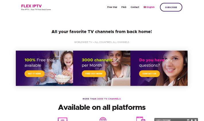 flex iptv website