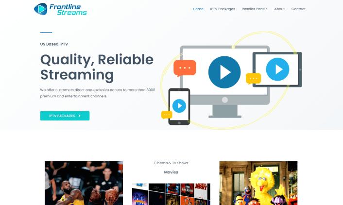 frontline streams iptv website