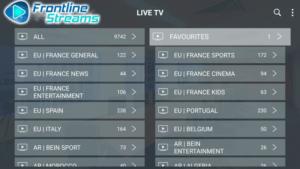 frontline streams iptv channels