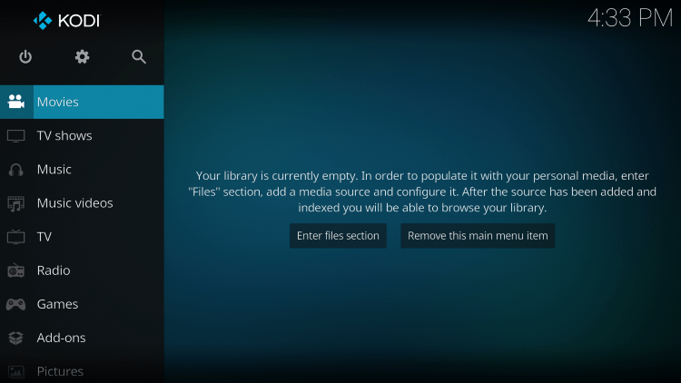 You have installed Kodi on your Android TV device.
