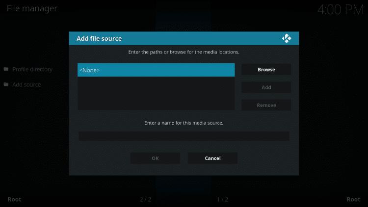Click the <None> icon to open the search box.