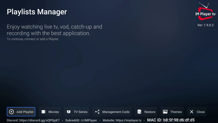You have successfully installed iMPlayer IPTV APK on your device.