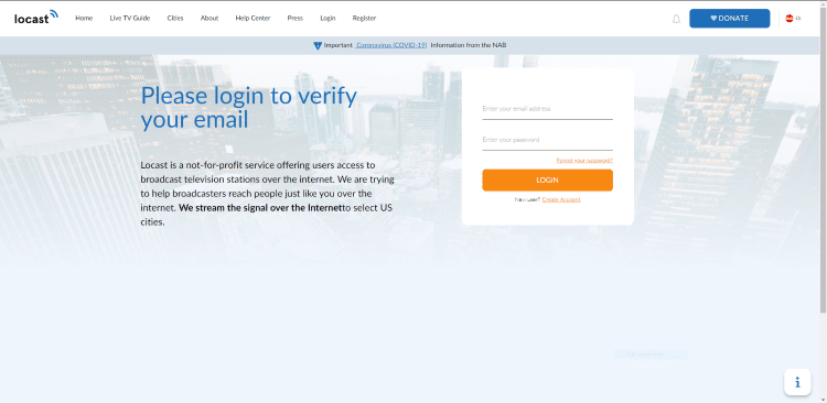 If you don't have an account, you will need to register by clicking the Create Accountoption