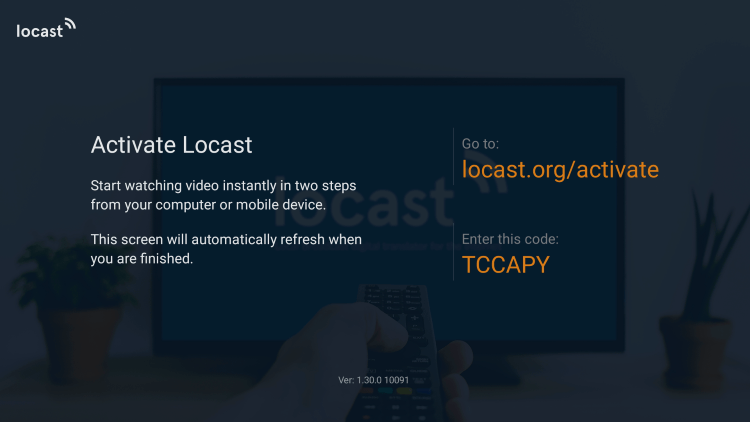 After installing Locast TV on your Firestick/Fire TV you will now need to activate the service for use.