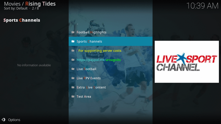 The Rising Tides Kodi Addon is widely considered as one of the best Kodi Addons for live TV.