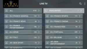 six star iptv channels