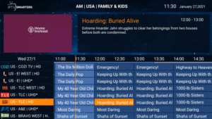 smith streaming services epg