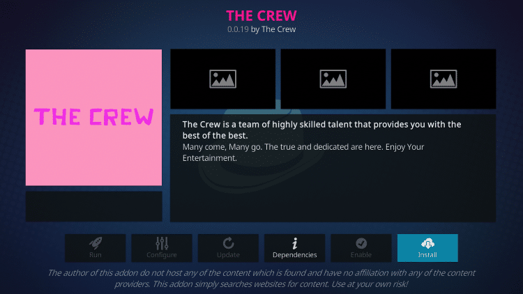 the crew kodi firestick