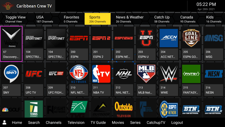 As mentioned previously, Caribbean Crew IPTV provides over 900 live channels starting for $22.00 per month with their standard subscription.