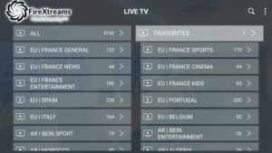 firextreams iptv channels