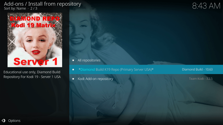 Click Diamond Build K19 Repository.