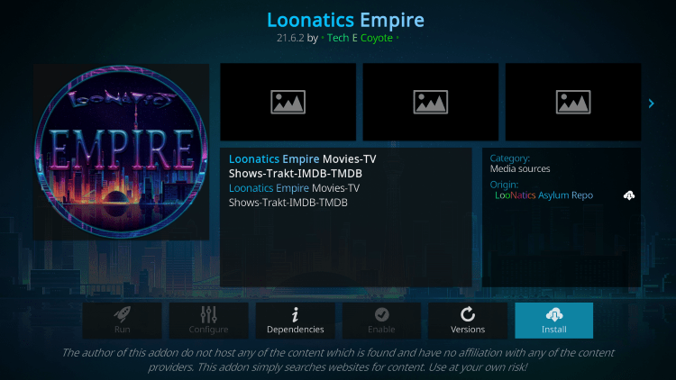 loonatics empire kodi addon firestick