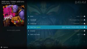 mad titan sports kodi addon live tv