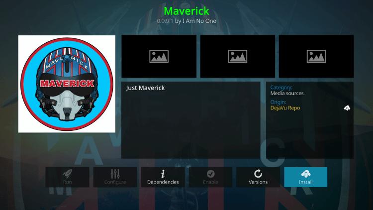 maverick kodi addon live tv