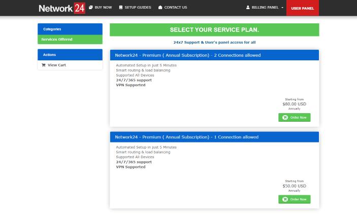 network 24 iptv website