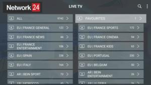 network 24 iptv channels
