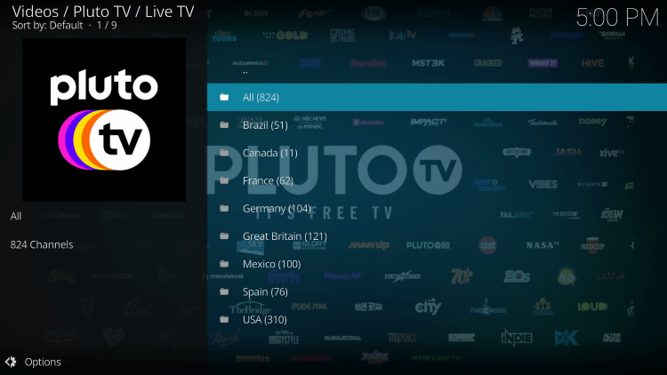 The Pluto TV Kodi Addon is widely considered one of the best Kodi Addons for live TV.