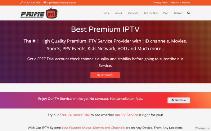 prime iptv website