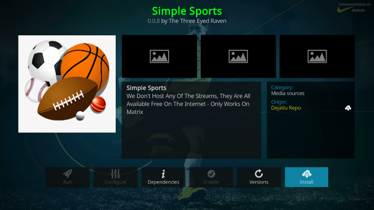 simple sports kodi addon firestick