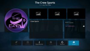 the crew sports kodi addon firestick